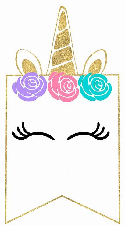 Unicorn Banner Printable Decorations Party Birthday Decor