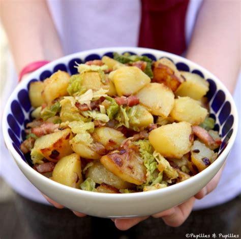 cuisiner sans viande poêlée de pommes de terre sautées et chou vert