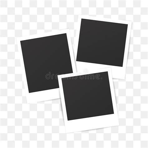 blank set photo polaroid frame  transparent background