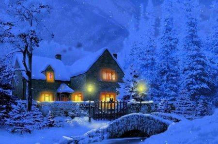Christmas house Other & Abstract Background Wallpapers