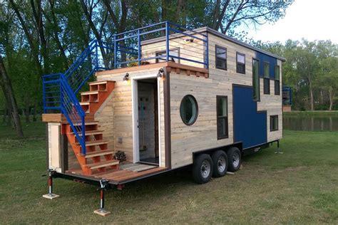 tiny mobile ski lodge  open upper deck  balcony idesignarch interior design