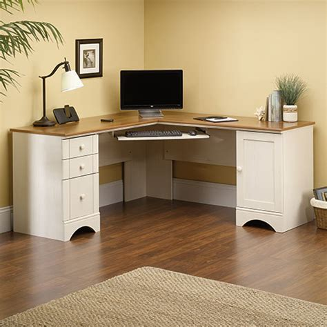 sauder harbor view corner computer desk sauder harbor view corner computer desk white boscov 39 s