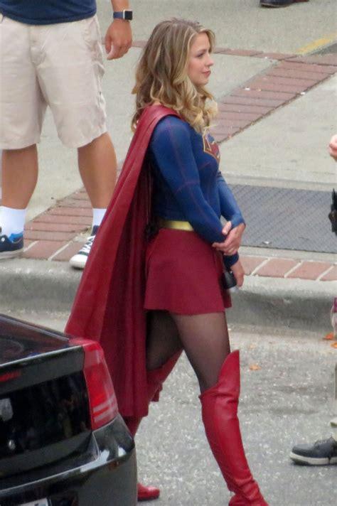 Melissa Benoist Supergirl Set In New Westminster Canada 07 27 2017