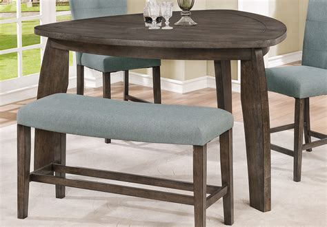rc willey dining table gray 4 piece counter height tri table dining set hollis
