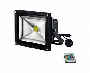 Black w high output rgb led flood light lighting