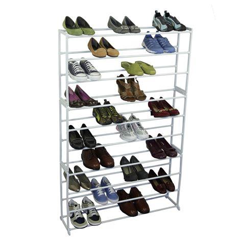 50 pair shoe rack 50 pair free standing shoe organizer rack in shoe racks