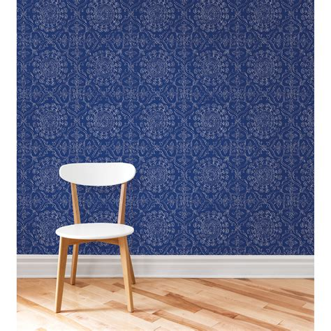 Brewster Byzantine Peel and Stick Wallpaper - Wallpaper at