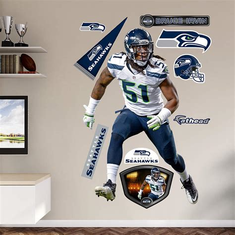 life size bruce irvin wall decal shop fathead