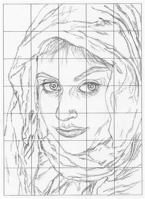 grid drawing  perfect faces  forms lets draw people