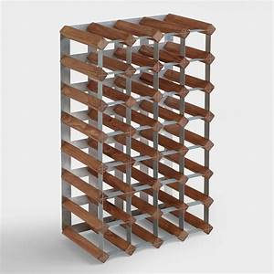 Wood & Metal Industrial Wine Rack World Market
