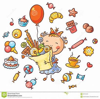 Sweets Clipart Happy Lots Candies Birthday Cookies