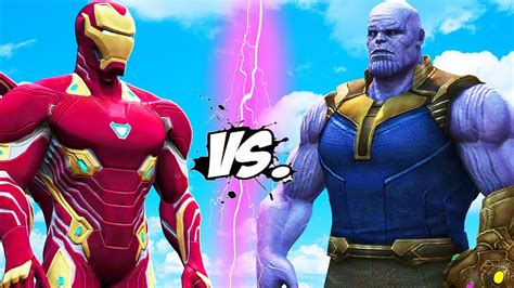 Thanos Vs Iron Man  Infinity Battle Youtube