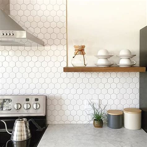 white backsplash tile 36 eye catchy hexagon tile ideas for kitchens digsdigs