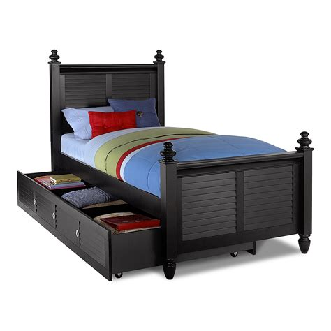 trundle bed with seaside twin bed with trundle black american signature
