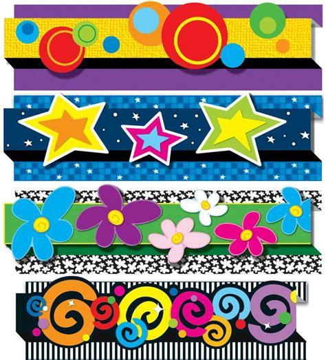 border decoration ideas pack of 4 pop its decorative designs bulletin board border cd 144179