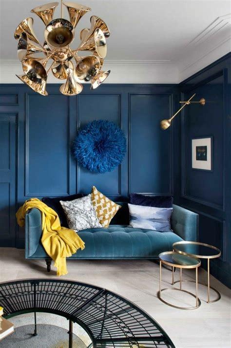 Blau Wohnzimmer by Pr 228 Chtige Interieurs Mit Metallischen Elementen Die Eine