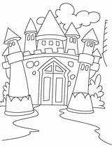 Castle Coloring Pages Print Sand Printable Getcolorings Pict sketch template