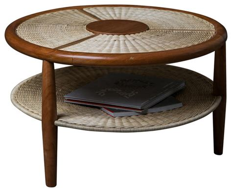 tropical round coffee table revolcadero coffee table wood wicker tropical