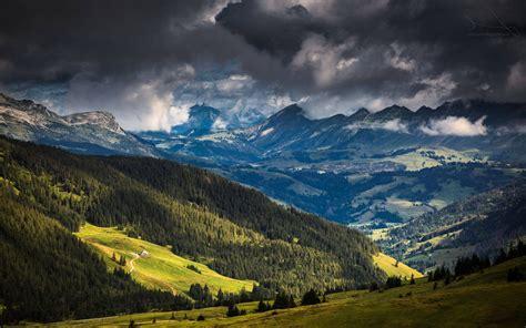 landscape, Nature, Mountain, Forest, Alps, Clouds ...