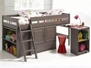 Lit Combiné Bureau : lit combin clarence la redoute ritable meuble gain de ~ Premium-room.com Idées de Décoration
