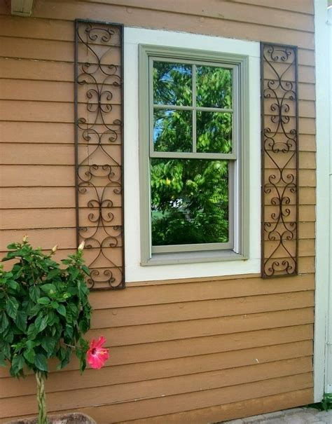 orleans wrought iron exterior window shutters