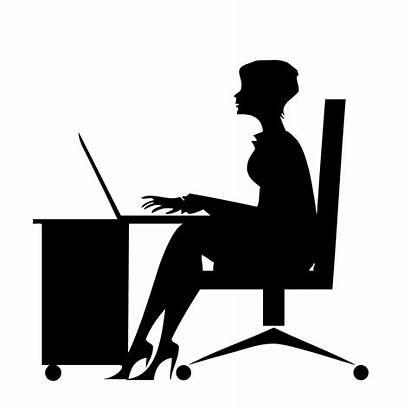 Secretary Transparent Clip Computer Sitting Kisspng Clipart