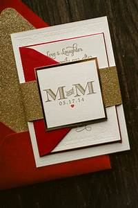 10 breathtaking red and gold wedding invitations to With dark red and gold wedding invitations