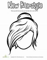 Bun Coloring Messy Drawing Hairstyles Hairstyle Cool Worksheet Cartoon Face Education Outline Getdrawings Human sketch template