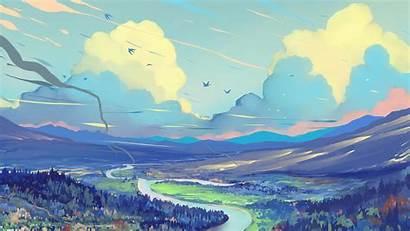 Digital Painting Scenery Clouds Wallpapers 4k Artist