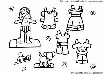 Coloring Pages Clothes Clothing Paper Printables Printable