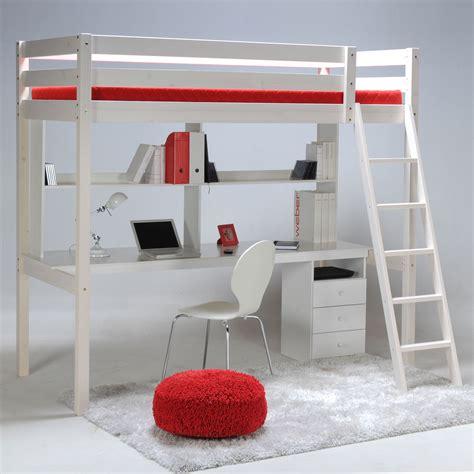 lit bureau ikea lit mezzanine sapin 90x190cm sommier bureau et caisson