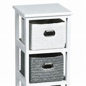 Meuble A Panier : meuble panier narrow blanc et gris meuble d co eminza ~ Teatrodelosmanantiales.com Idées de Décoration