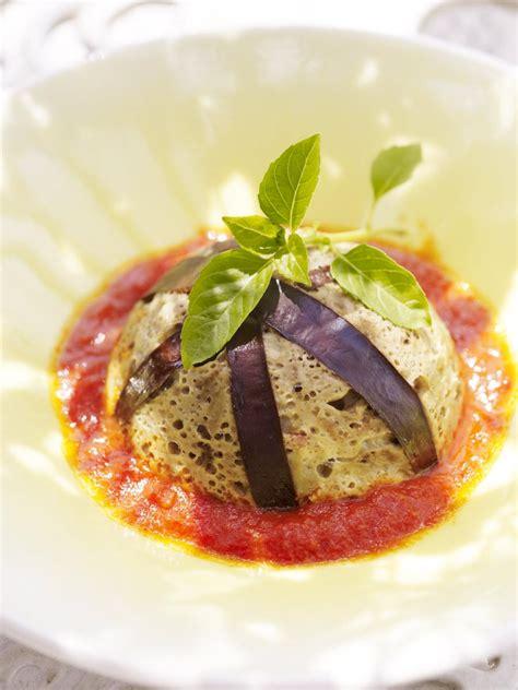 recette cuisine aubergine recette flans d aubergines cuisine madame figaro