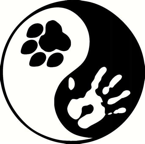 paw print yin yang sticker peace hippie for bumper ying inside or outside ebay