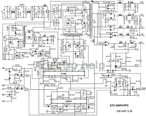 Atx Power Supply Wiring Diagram