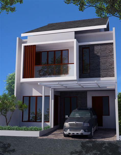 desain rumah minimalis  lantai  lahan