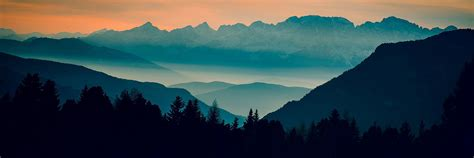 landscapes mountains sunset twitter cover twitter