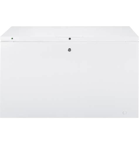 general electric fcmdjww  cu ft chest freezer   sliding baskets led lighting door