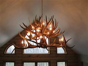 Photo of antler chandeliers and lighting