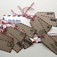 etiquette air mail pour  marque place sur le theme du