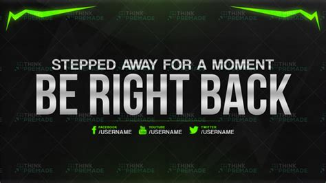 Twitch Be Right Back Screen Template How To by Twitch Background Screens Graphics Pack