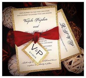 red and gold glitter wedding invitations gold glitter With red and gold glitter wedding invitations