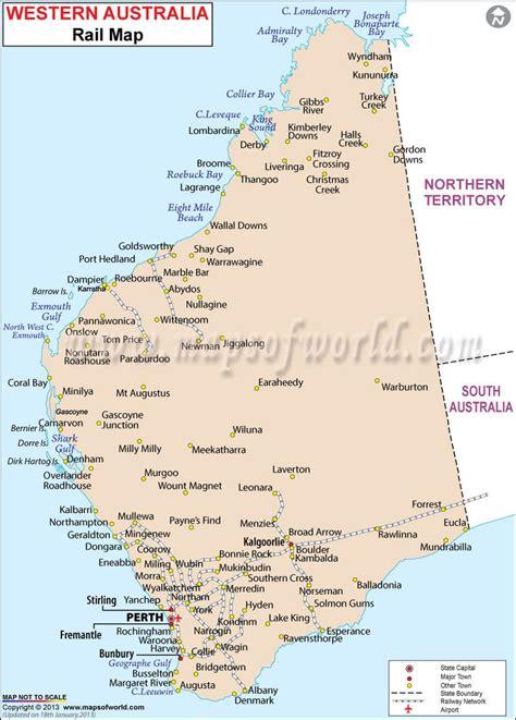 rail map  western australia maps australia