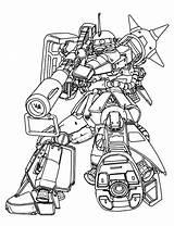 Zaku Sevensense Zoids Commet Exia Char Bestcoloringpagesforkids sketch template