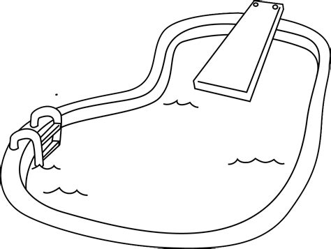 swimming coloring pages swimming pool coloring pages