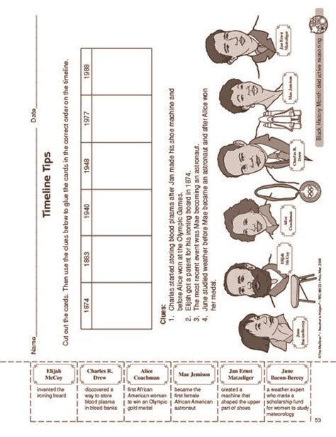 black worksheet black history month worksheet americans