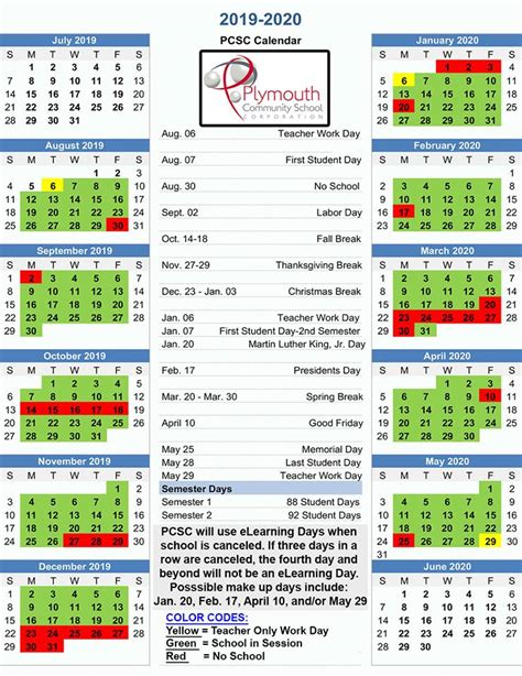 pcsc balanced calendar plymouth community school