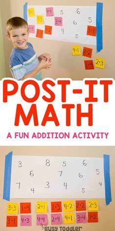Post-It Math Activity for Teaching Addition - Busy Toddler ...