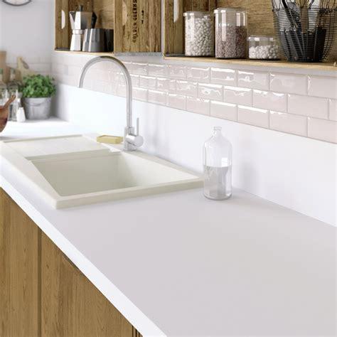 plan de travail cuisine stratifié plan de travail stratifié mat edition blanc mat l 315xp
