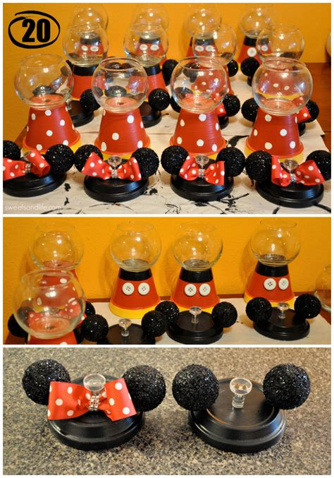 diy mickey  minnie mouse gumball machines sweets